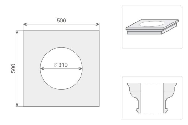 Architraw kolumny AK1/300