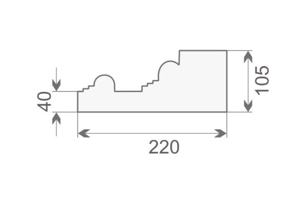 Baza pilastra BP1/350