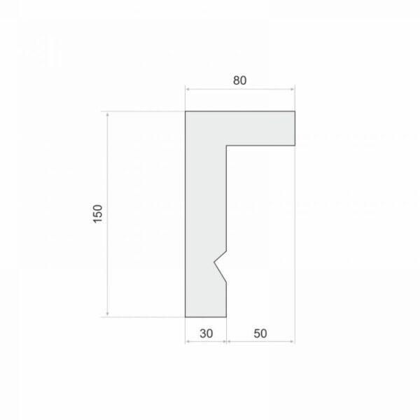 Listwa do zabudowy karnisza LKO3A wysokość 15 cm