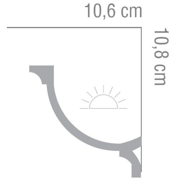 Listwa oświetleniowa MD366 Mardom Decor
