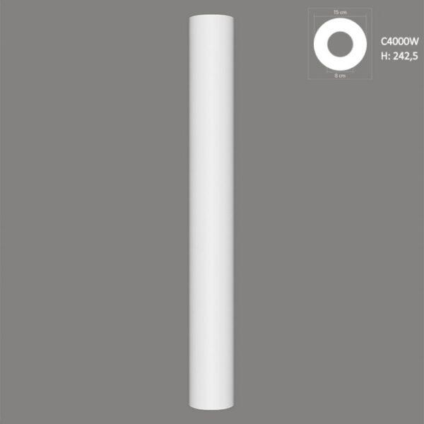 Trzon kolumny dekoracyjnej C4000W